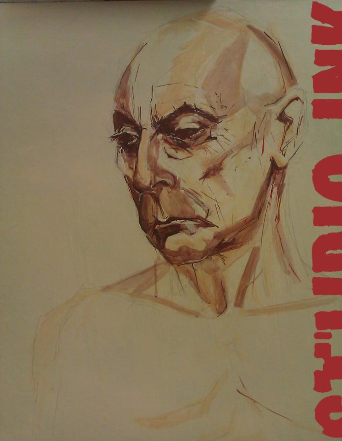 Zeer artistiek portret van man