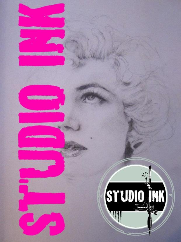 Zwart wit portret Marilyn Monroe