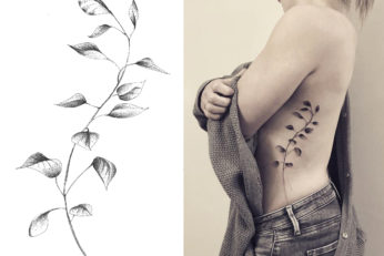 floral lady ink